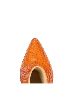Orange Leather Pithon Boots Sara Ginissima
