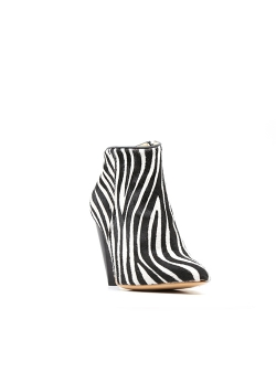 Pony Fur Boots With Zebra Print Ginissima