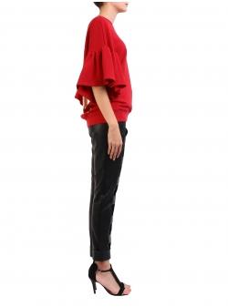 Red Sweatshirt With Golden Print Ioana Ciolacu