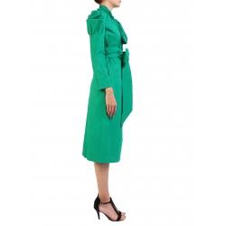 Rochie verde cu umeri supradimensionati Nicoleta Obis