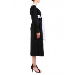 Black And White Cotton Dress Nicoleta Obis