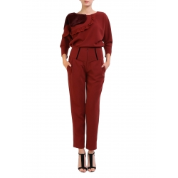 Pantaloni cambrati cu pense Florentina Giol