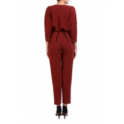 Fitted Burgundy Pants Florentina Giol