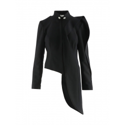 Black Jacket With Asymmetric Cut Florentina Giol
