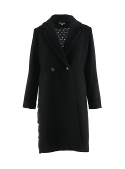 Black Coat With Sequins On The Back Mimita