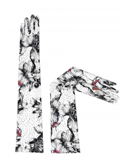 Gloves with black and white print Ioana Ciolacu