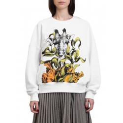 White sweater with print Ioana Ciolacu