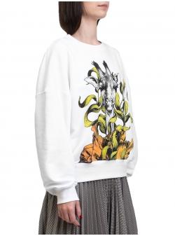 White sweater with print Ioana Ciolacu