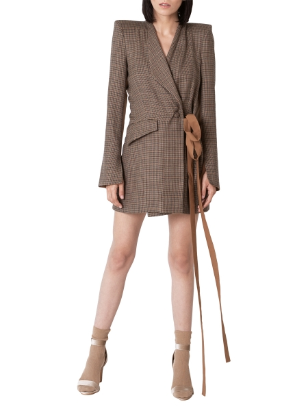 Checked dress jacket with hand embroidered details Ramelle
