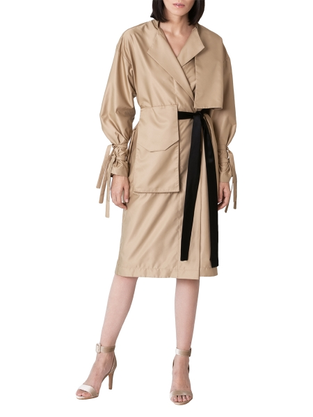 Nude Trench - Dress with waist belt Ramelle