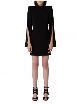 Short black dress with a split sleeve Ramelle