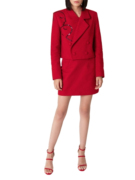 Red jacket with glitter applications Ramelle