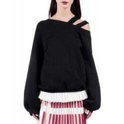Sweatshirt negru cu decupaje Sonia