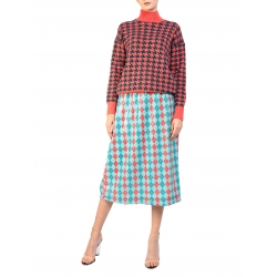 Printed sweater in two colors Houndstooth H2 Smaranda Almasan