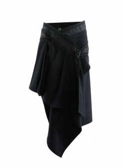 High waist asymmetrical skirt Edita Lupea