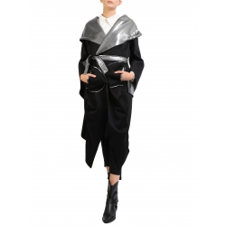 Long silver jacket with two sides Edita Lupea