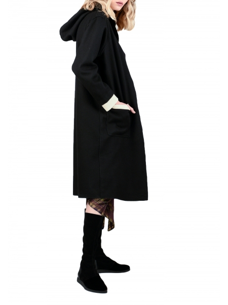 Jcheta din lana cu gluga Oana Manolescu