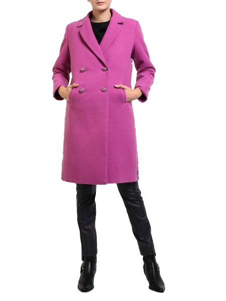 Pink Coat With Multicolored Sequins Mimita