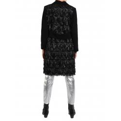 Palton negru cu paiete pe spate Mimita