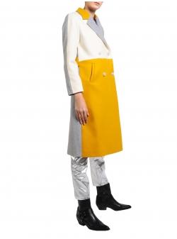 Palton din stofă de lână în trei culori Mimita