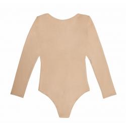 Body nude din bumbac cu maneca lunga Nalu Underwear