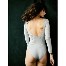 Body bleu din bumbac cu maneca lunga Nalu Underwear