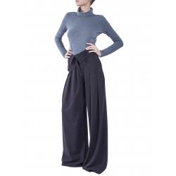 Pantaloni negri evazati cu talie inalta Florentina Giol