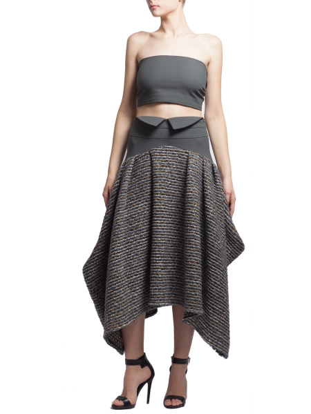 Grey Woolen Skirt