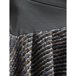 Fusta gri din lana cu talie inalta Florentina Giol