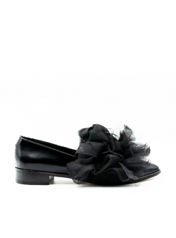 Pantofi negri din piele Duke Meekee