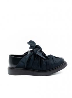 Pantofi negri din piele Knot Meekee