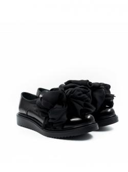 Pantofi negri cu nod supradimensionat Meekee