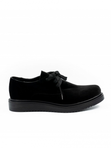 Pantofi din catifea cu siret Meekee