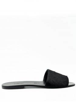 Papuci din blana cu talpa joasa Fur Meekee