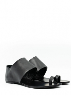 Papuci negri din piele naturala Meekee