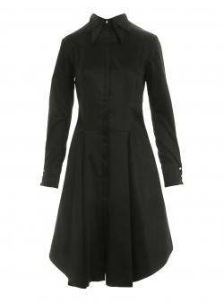 Camasa neagra cu maneci lungi si doua gulere Larisa Dragna