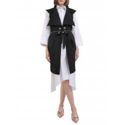 Origami black vest with oversized Larisa Dragna