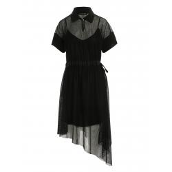 Asymmetrical short sleeve dress Larisa Dragna