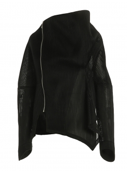 Black jacket with asymmetrical collar Larisa Dragna