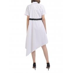 White poplin dress with short sleeve Larisa Dragna