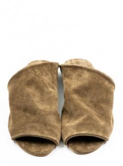 Papuci maro din piele naturala Dune Meekee
