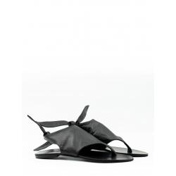 Sandale negre din piele naturala V Meekee