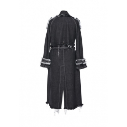 Trench negru din denim Afmf