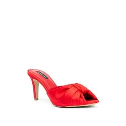 Red Satine Clogs Shoes Sofia Ginissima