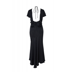 Black Long Dress Backless Parlor