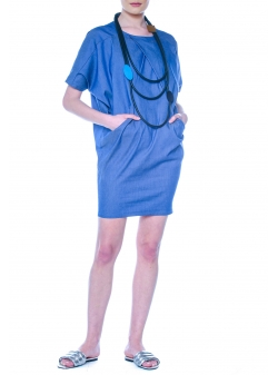 Geometric Denim Dress DoubleYout