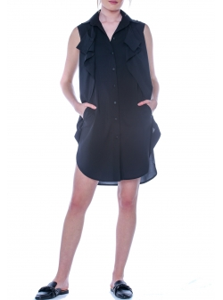 Black Cotton Dress DoubleYou