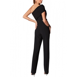 Black Jumpsuit with One shoulder Ramo Roso