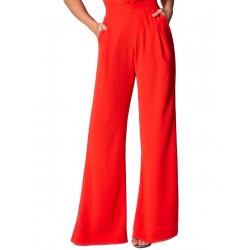 Red Trousers with High Waist Ramo Roso
