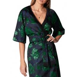 Kimono with Floral Motif Ramo Roso